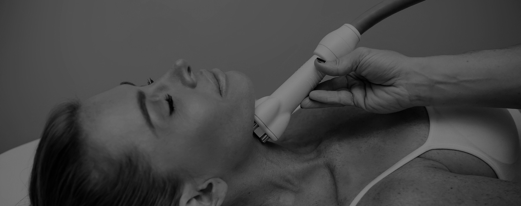 Woman receiving tribella treatment